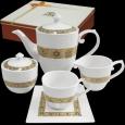1788 Набор чайный 15пр. Аврора  (чашка - 230мл, блюдце -14см, сахарница - 380мл, молочник - 260мл, чайник - 1,2л)