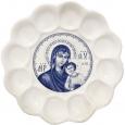 50046 Тарелка Пасхальная Образ белая с деколью 22см