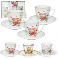 1459-08 Сервиз кофейный 12пр Английский сад (чашка -70мл, блюдце-10,5см)