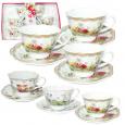 1752-08 Сервиз чайный 12пр Английский сад (чашка - 200мл,блюдце 14,5см)