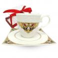2320-2 Чашка с блюдцем Амели (чашка - 220мл,блюдце - 14см)
