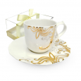 2320-4 Чашка с блюдцем Жаклин (чашка - 220мл, блюдце - 15,5см)