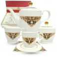 1788-2 Набор чайный 15пр. Амели (чашка - 220мл, блюдце - 14см, сахарница - 340мл, молочник - 260мл, чайник - 1,3л)