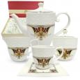 1788-3 Набор чайный 15пр. Лаура  (чашка - 220мл, блюдце - 14см, сахарница - 340мл, молочник - 260мл, чайник - 1,3л)