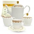1788-5 Набор чайный 15пр. Анжелика  (чашка - 220мл, блюдце - 14,5см, сахарница - 340мл, молочник - 260мл, чайник - 1,3л)