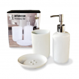 888-06-000 Набор 3пр (мыльница, подставка для зубных щеток, диспенсер для мыла)