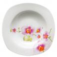30822 Тарелка 9 'суп квадрат Орхидея (24)