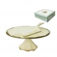 031-02-03 Набор для торта 2пр. Монсоро (d-27см, h-10см)