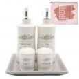 700-06-11 Набор 5 пр. (2 бутылки для масла/уксуса и набор для соли и перца на кер.подставке) 'Розарий' (24)