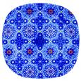 3716 Тарелка кв. с кр.краями 10' - 25см  (Восток)