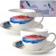 1753-1 Сервиз чайный 12пр. (чашка-280мл, блюдце-15см) Феникс