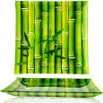 307-3 Тарелка квадр 10' - 25см (Свежий бамбук)