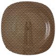 3716-1 Тарелка квадр 10' - 25см (Аргайл)