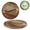 8857 Доска разделочная Premium quality круглая (акация) 20*20*1,5см