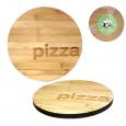 8842 Доска разделочная бамбуковая Пицца 25*25*1,5см