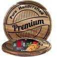 8858 Доска разделочная Premium quality круглая (акация) 26*26*1,5см