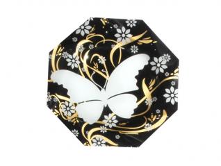 331 Тарелка Восьмигранник 20 см (бабочка)
