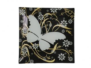 306 Тарелка квадр. 20 см (бабочка)