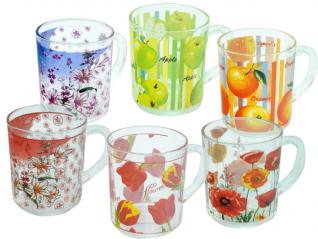 9304 Чашка стеклянная с рисунком 250 мл. <a href='http://snt.od.ua/ru/poisk.html?q=Микс2' />Микс2</a>