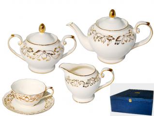 1784 Сервиз чайный 15пр. (чашка 220мл, блюдце 14см) Невеста