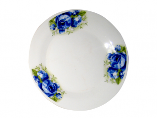 308 Тарелка 7,5 '801 Роза синяя
