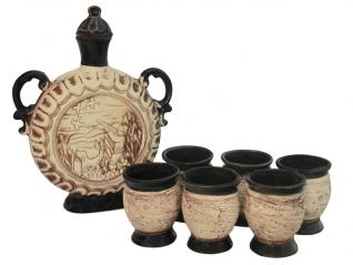 50101 Набор винный Охота  (штоф 1210мл+ 6 стаканов 150мл)