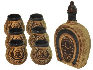 50101 Набор винный Подкова (штоф 1130мл+ 6 стаканов 140мл)