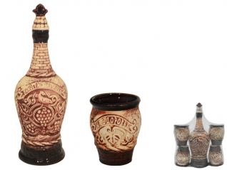 50107 Набор винный Виноградная лоза (штоф 1050мл+ 4 чашки 260мл)