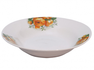 3082 Тарелка суп 8 '803 Роза желтая