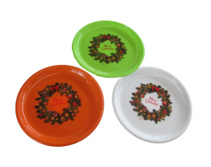 90213 set of 6 pieces. round dish (20.5 cm diameter) Holiday