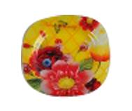 3716 Тарелка квадратная (25*25 см) красные цветы