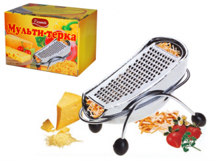 B432-1 Multi-grater with container stainless. steel