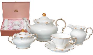 1786 Набор чайный 15пр. Лада (ч-240мл, бл-16,5см, сах-300мл, молочн-350мл, чайник-1,4л)