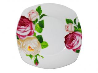 30800 Тарелка 8' квадрат Роза (36)