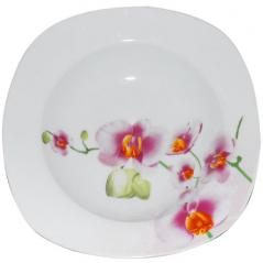 30822 Тарелка 9 'суп квадрат Орхидея