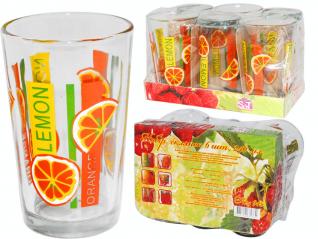 945 Набор стаканов 0,24 л 6шт. (1) Апельсин