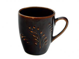 50197 Чашка Европа рифленая коричневая 400мл