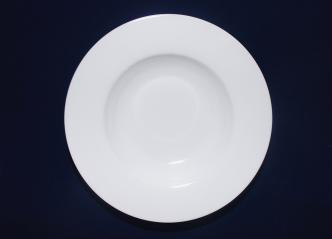3082-01 Тарелка 8 суп круглая / белая Хорека