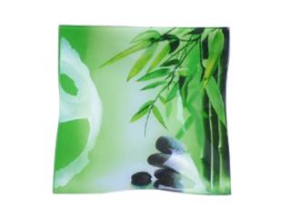 306 Тарелка квадр. 20 см Элегант (Зеленый бамбук)