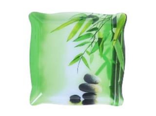 386 Салатник прямоуг. (30,5 * 30,5 * 3,5 см) (Зеленый бамбук)