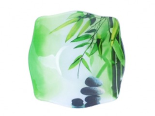 392 Салатник квадр. с круг.краямы средн. (20*20*5см) (Зеленый бамбук)