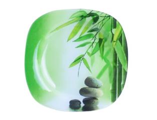 3715 Тарелка квадратная (20*20см) (Зеленый бамбук)