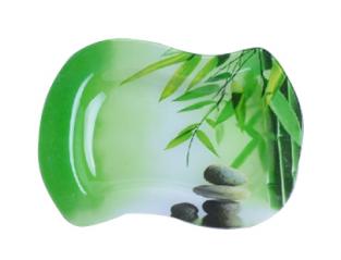 3814 Тарелка 'Волна 2' 23*17,5 см (Зеленый бамбук)