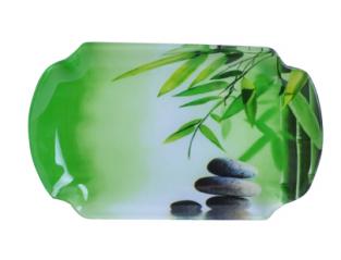 3816 Тарелка 'Разнос' 24,3 * 14 см (Зеленый бамбук)