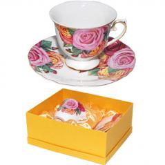 2025 Набор чайный 2пр. 200мл Нежная роза(5)