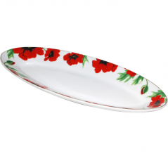 30828 Тарелка для рыбы 16 ' <a href='http://snt.od.ua/ru/poisk.html?q=Красный мак' />Красный мак</a> 41*15,7*4см