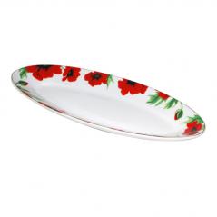 30826 Тарелка для рыбы 14 ' <a href='http://snt.od.ua/ru/poisk.html?q=Красный мак' />Красный мак</a>   35,5*14,2*3,5см