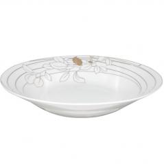 3082-02 Тарелка суп  8 Золотой лепесток