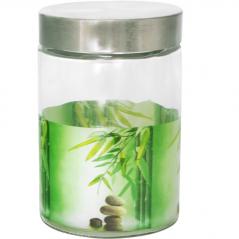 604 Емкость для сыпучих продуктов 1,4л. (Зеленый бамбук)