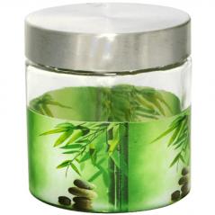 606 Емкость для сыпучих продуктов 0.9л. (Зеленый бамбук)
